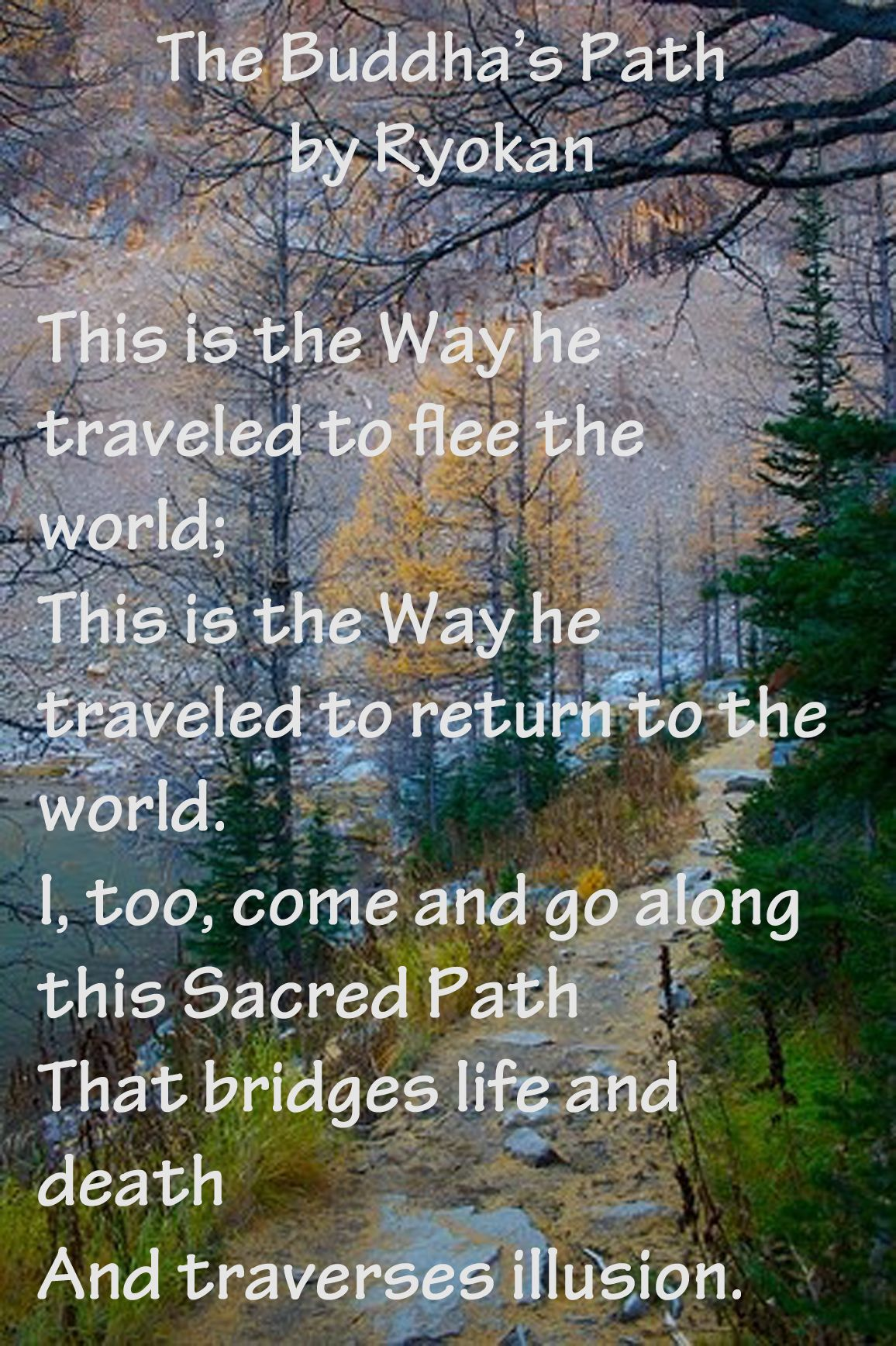A poem by the Japanese Buddhist monk Ryokan   Insight ...