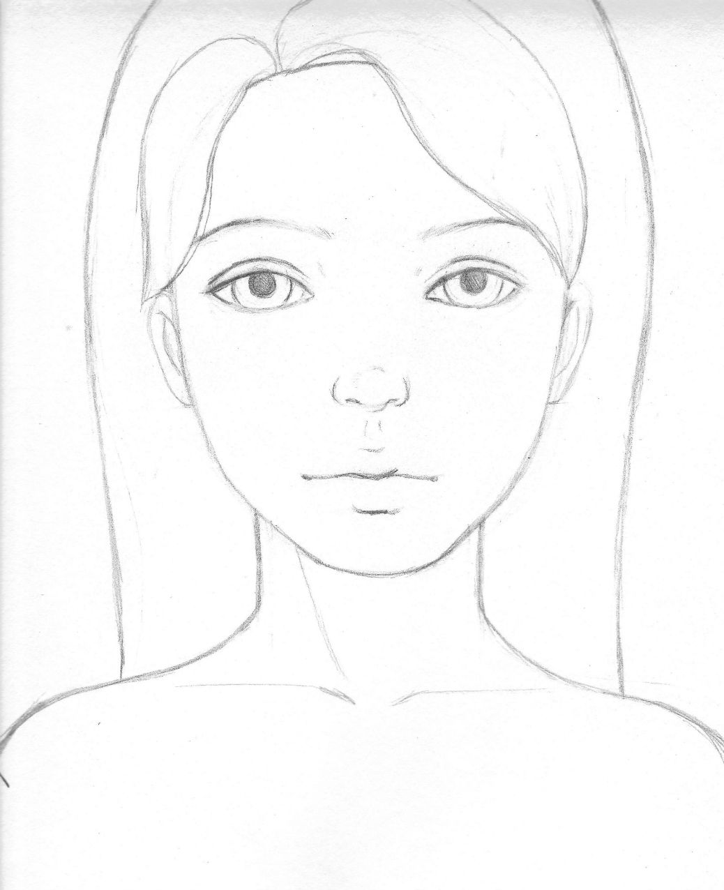1038x1276 Drawing Pictures Of Girl Easy Draw A Girl 39s Face Female