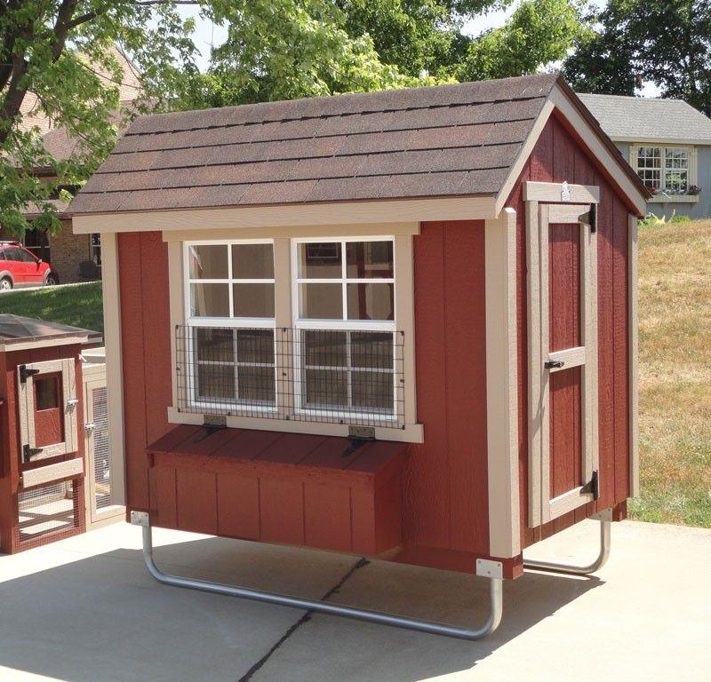 Amish EZ-fit 4' x 6' Chicken Coop Kit | Urban chicken farming, Diy chicken coop, Chicken coop kit