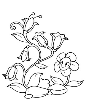 Ausmalbild Glockenblumen Blumen Ausmalbilder Umrisszeichnungen Wenn Du Mal Buch