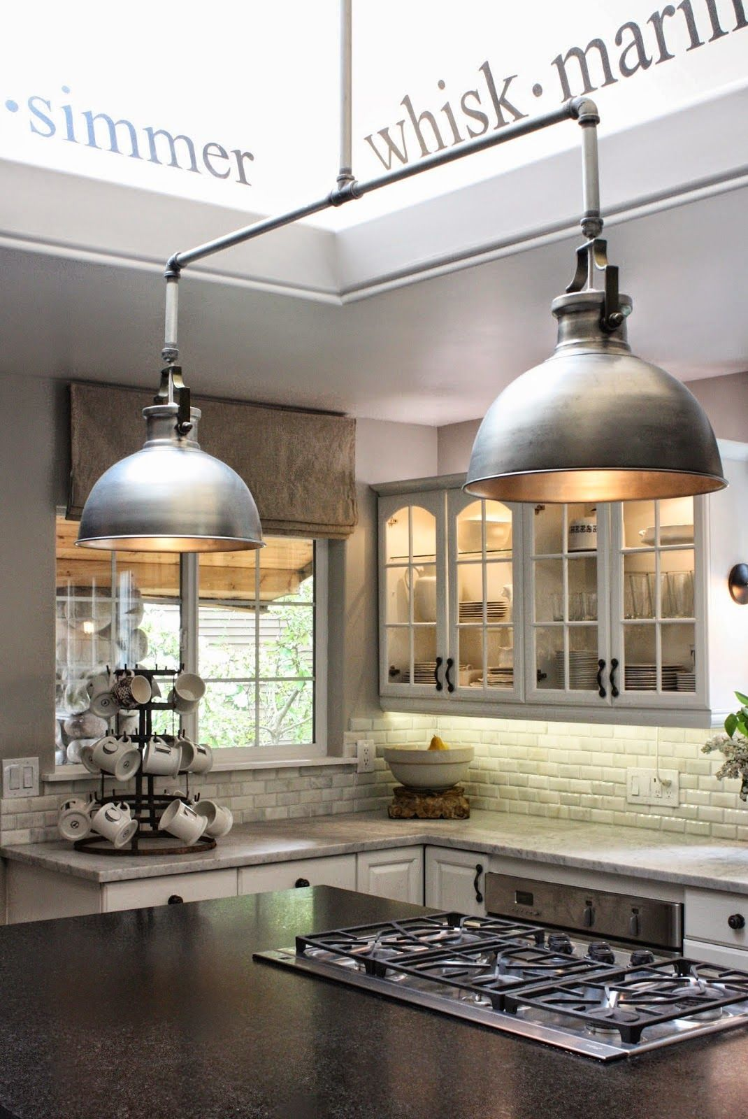 industrial kitchen lights reface cabinets style island lighting operation