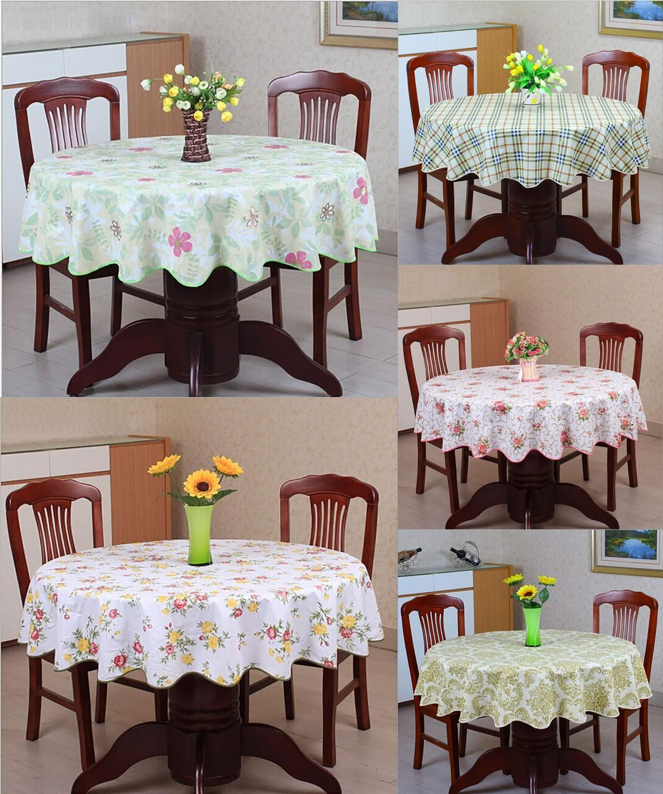 Visit To Buy Pastoral Round Table Cloth Pvc Plastic Table Cover Flowers Printed Tablecloth Waterproof Home Part Plastic Table Covers Table Covers Table Cloth