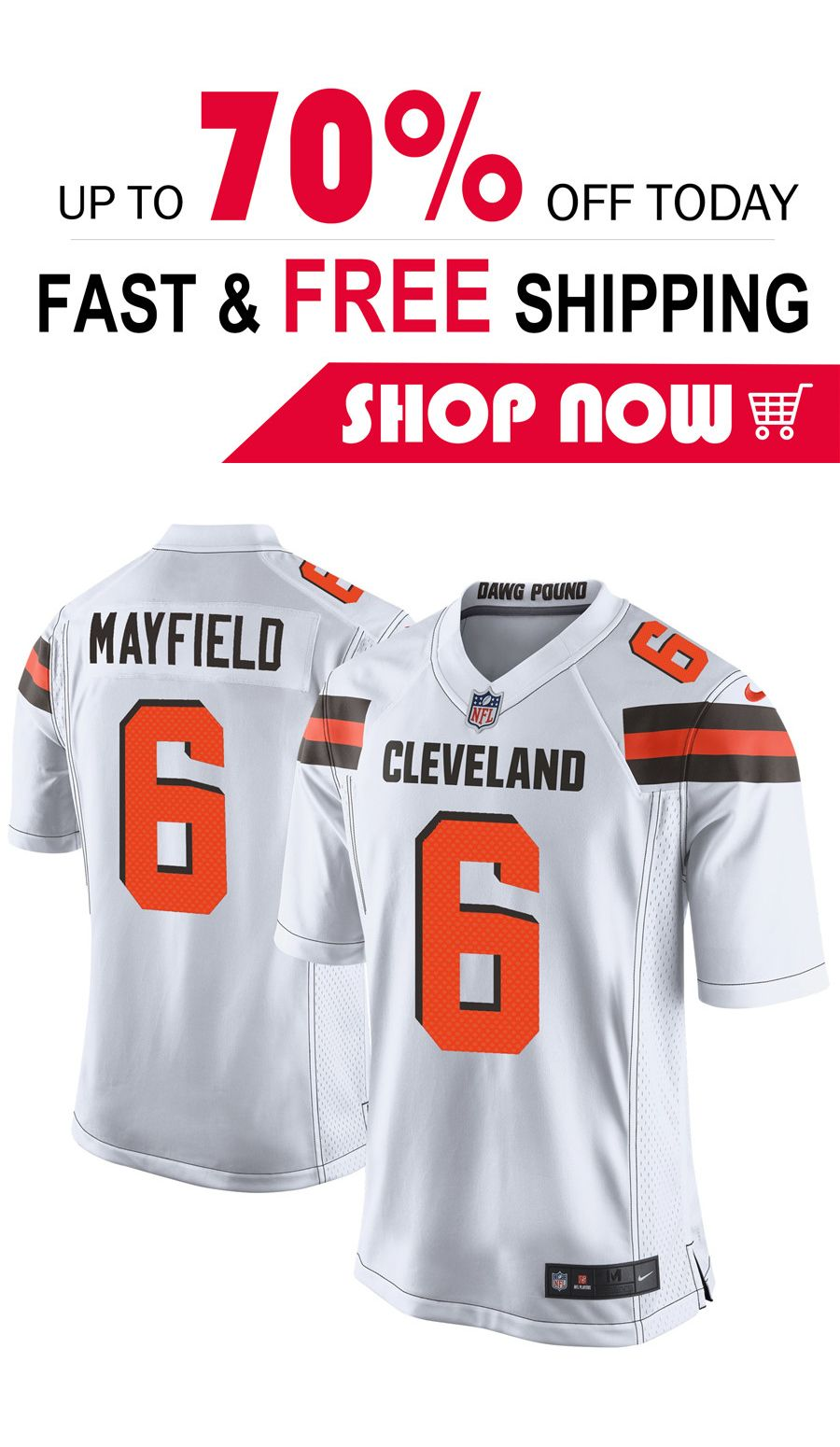 the latest 14bc5 c39b5 2019 的 mens Baker Mayfield Cleveland Browns Game jersey ...