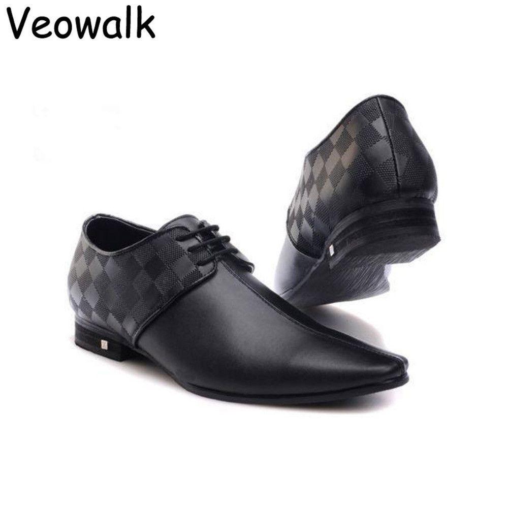 Black cheker Men casual shoe