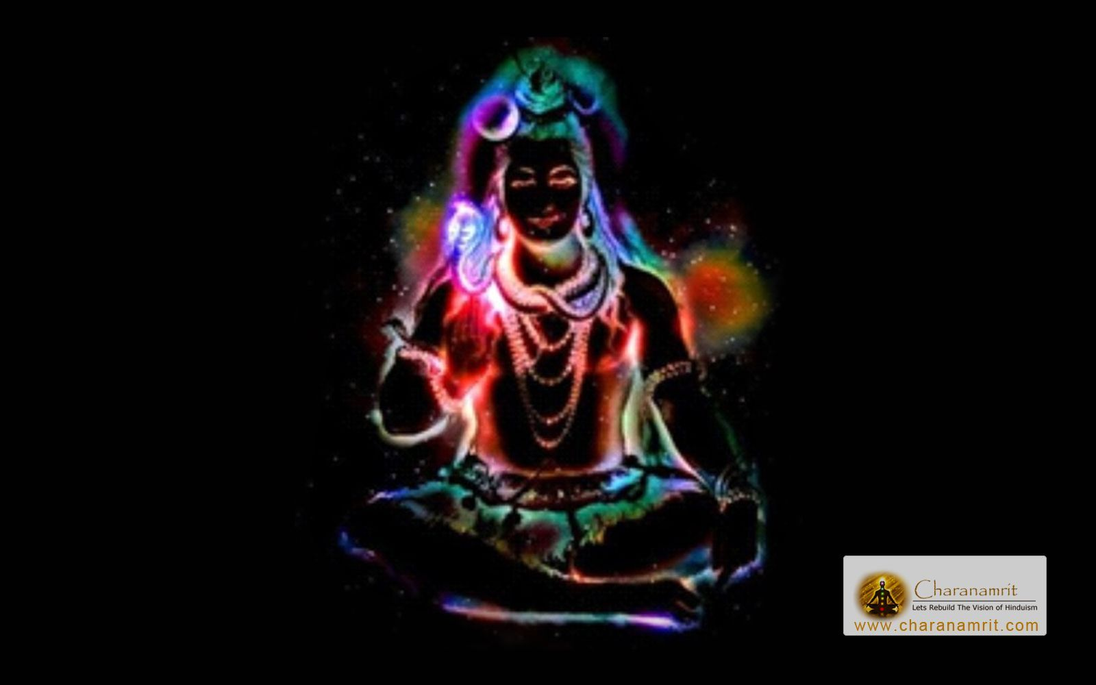 Lord Shiva Colorful Lighting Effects Hd Wallpaper For Free
