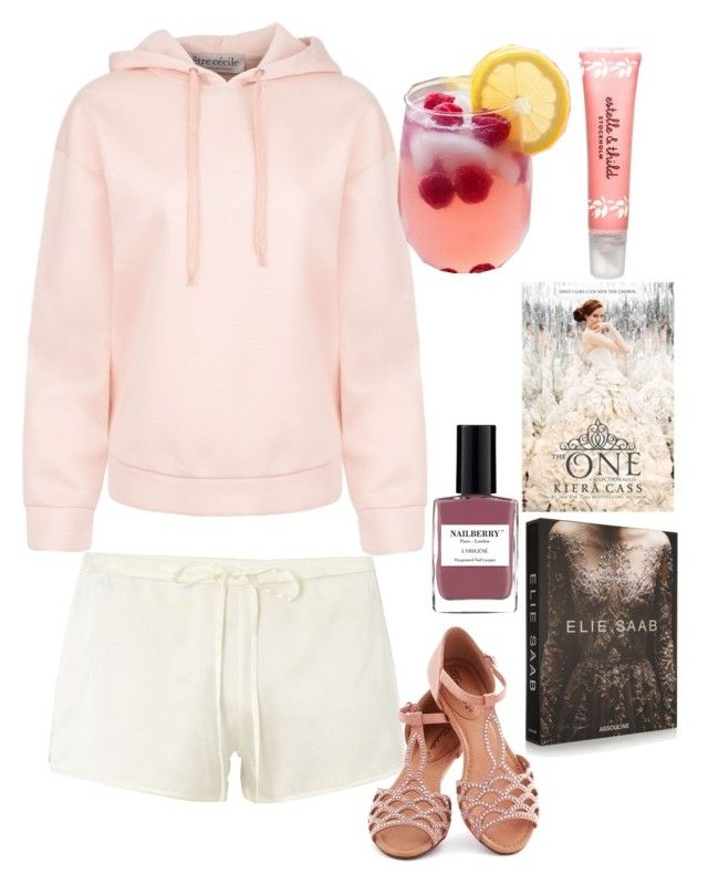 """Fairy Tales High Loungewear: Princess Elisa"" by becka-ramey ❤ liked on Polyvore featuring JULIANNE, Être Cécile, Estelle & Thild and Assouline Publishing"