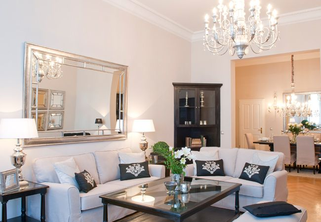 Elegant Living Room for Gracious Living in Berlin, Germany! Available for vacation rental from 1 to 3 bedroom apartments.