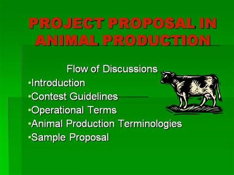 D Project Proposal In Animal Production By Bianitodagatan Via