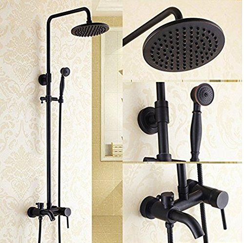 Wymbs Bathroom Luxury Rain Mixer Shower Combo Set Wall Mounted