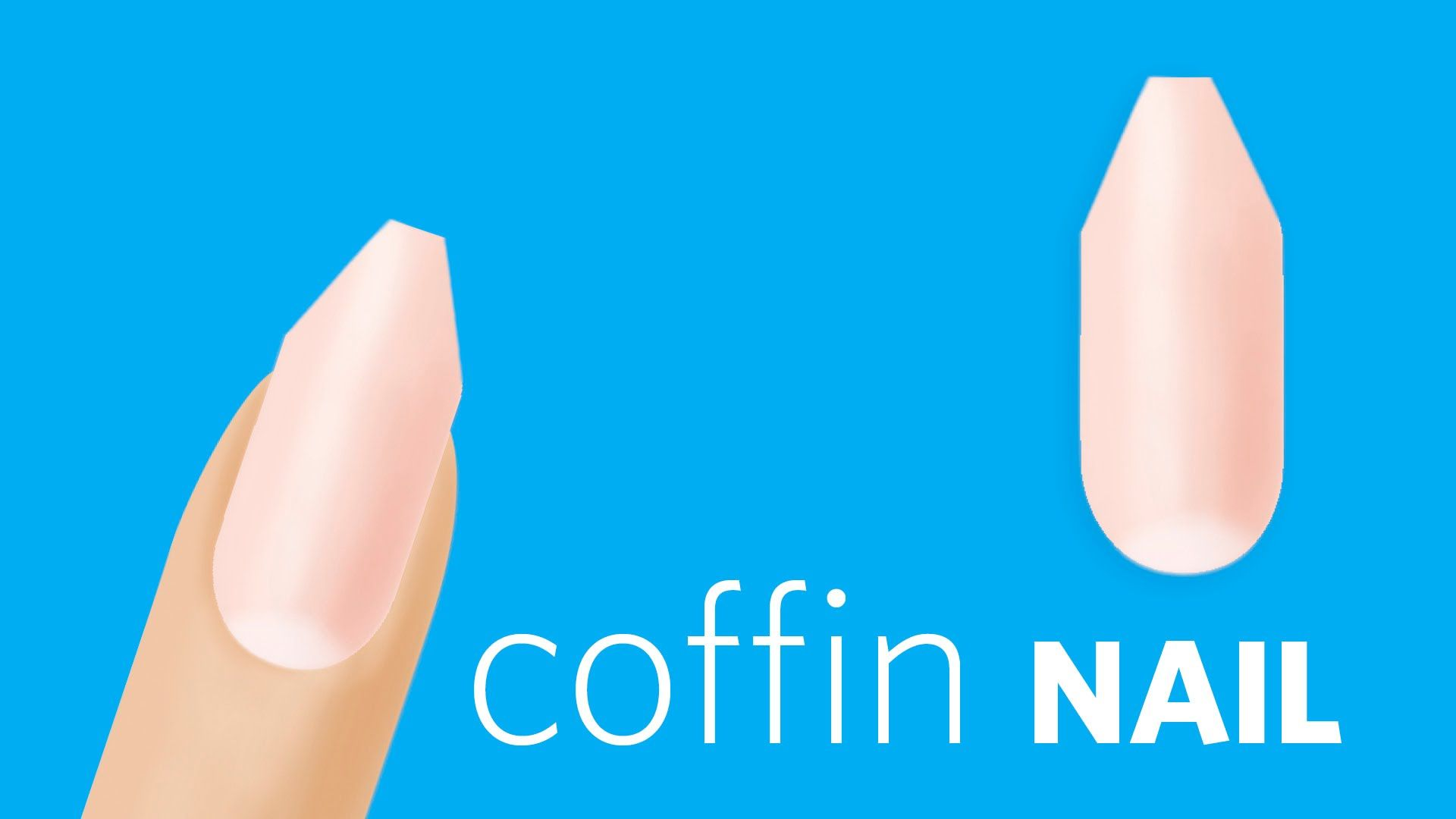 How to File Coffin or Ballerina Nails | Get Nailed | Pinterest ...