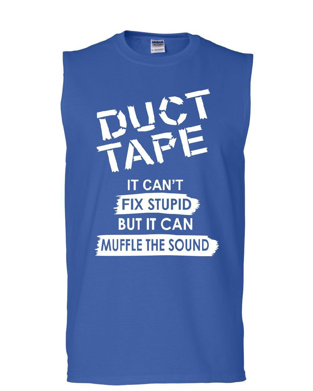 Duct Tape It Can/'t Fix Stupid Women/'s V-Neck T-Shirt Offensive Humor Sarcastic