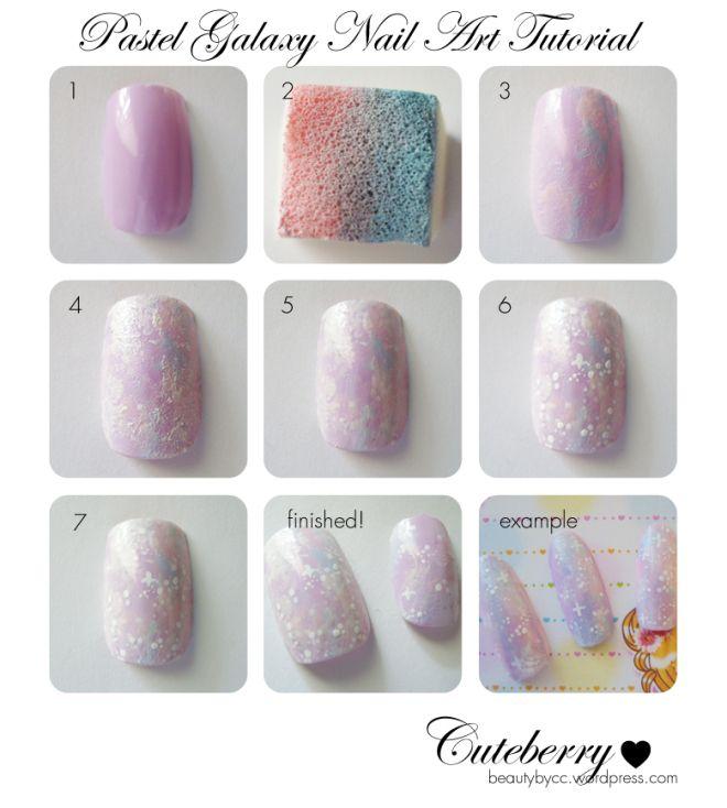 Pastel Galaxy nail tutorial copy | Nailed it | Pinterest | Galaxy ...