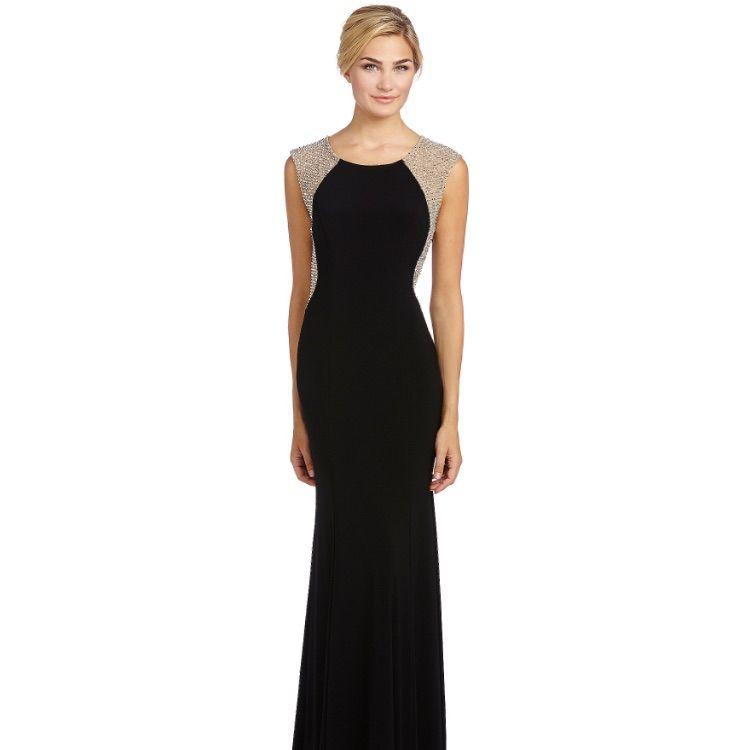 Xscape Beaded Illusion Gown | Products