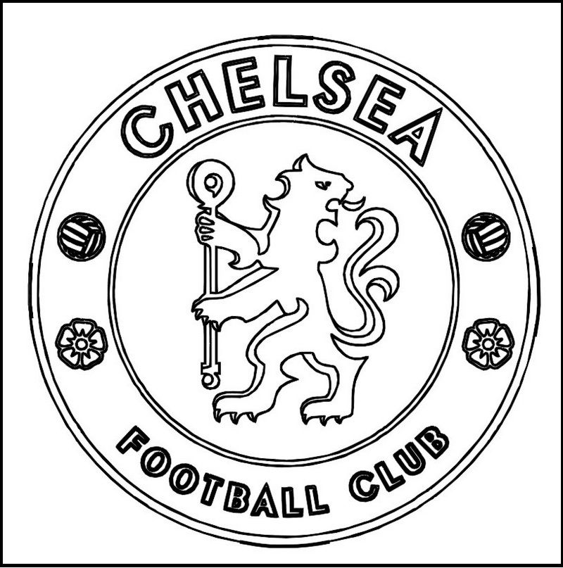 Chelsea Football Club Coloring Line Art Football Coloring Pages Chelsea Football Club Sports Coloring Pages
