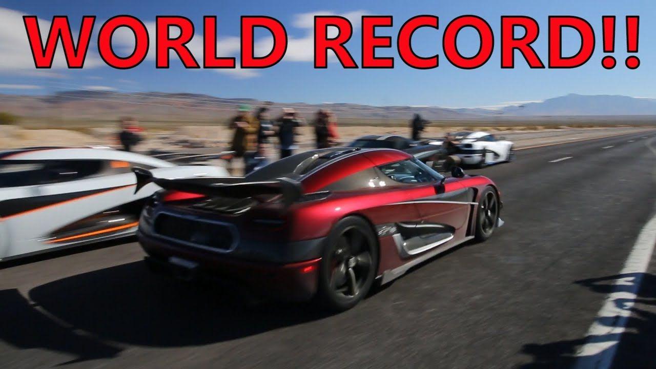 Koenigsegg Broke The Top Speed World Record Https Www Youtube Com Watch V Da Qhywpmjk Koenigsegg World Records Fast Cars