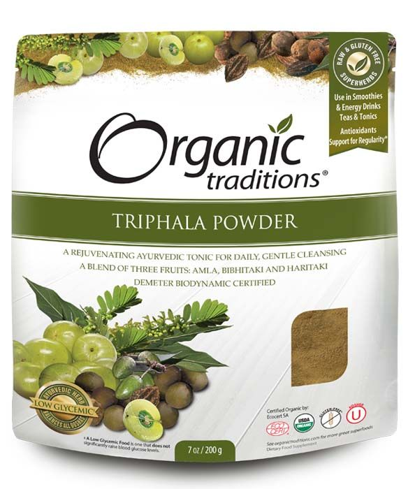 Triphala is a traditional Ayurvedic Indian herbal compound used for constipation. poor bowel tone and support the body's natural cleansing process. One of Ayurveda's most important herbal formulas for thousands of years. A balanced blend of three Indian Herbal Fruits: Harada, Amla, Behada. This combination of fruits is unique because the astringent qualities of the fruits serve to tonify the colon, promoting internal cleansing naturally. Highly recommended for anyone doing detox program.