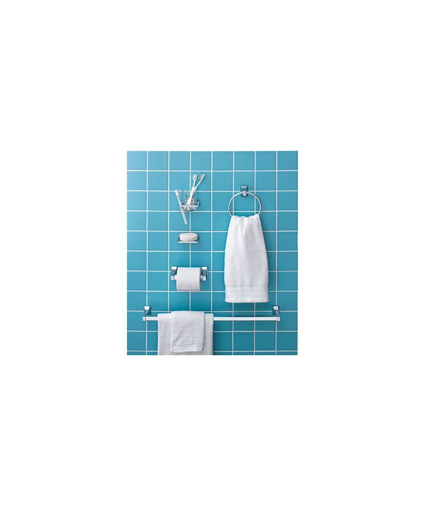 Buy 5 Piece Bathroom Accessory Set - Chrome Finish at Argos.co.uk ...