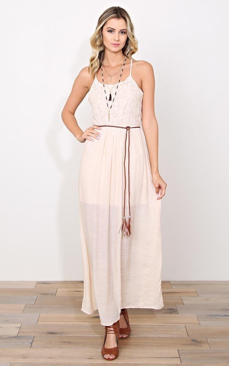 Pure dreams woven gauze maxi dress casual dresses shop