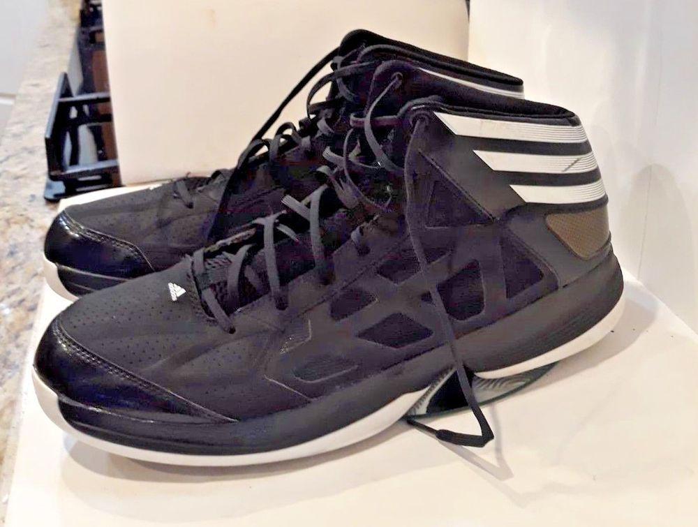 Adidas Mens Basketball Shoe Size 16 Black Gold White Sprint Web