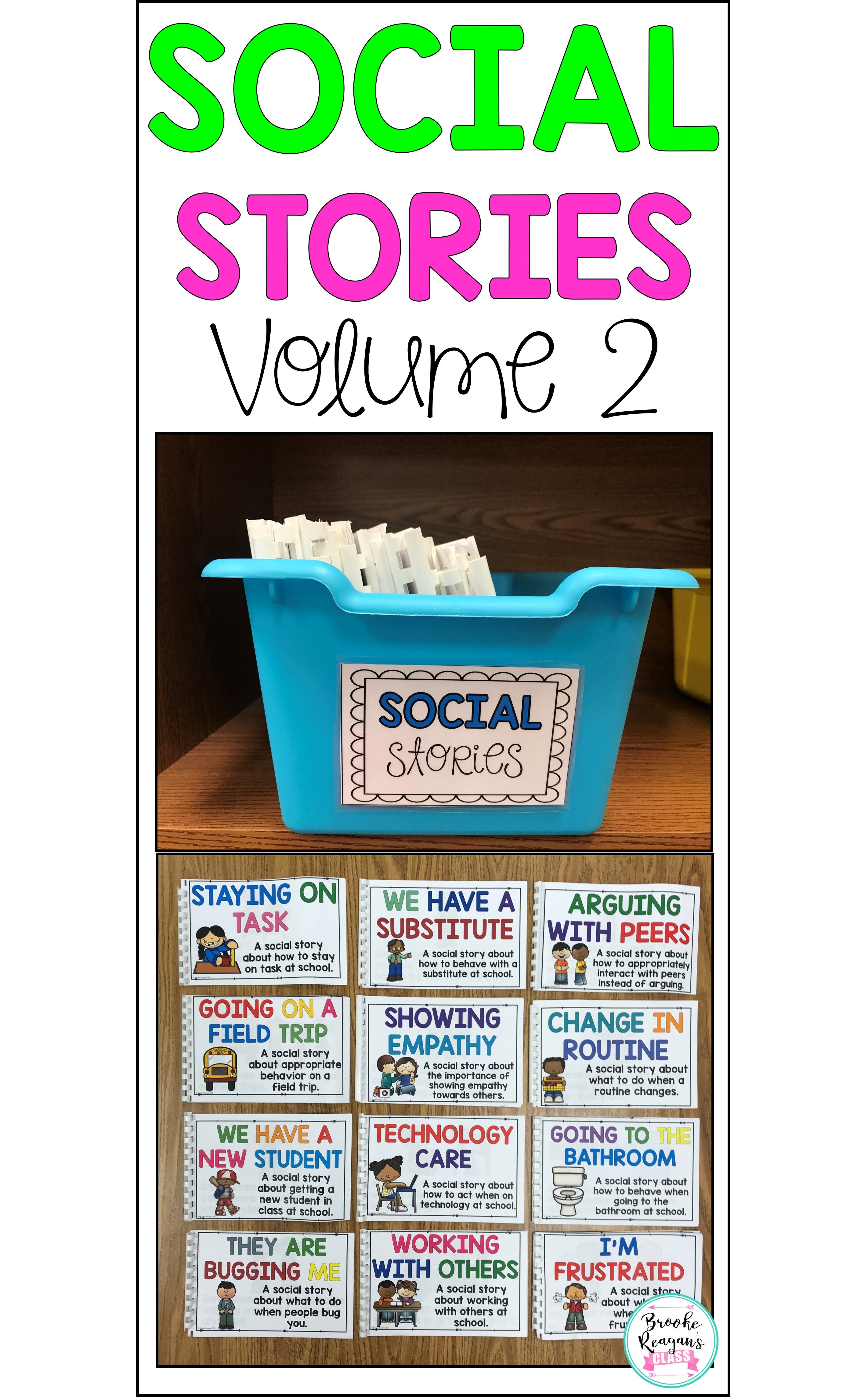 Social Story Volume 2 12 Social Stories Teaching Appropriate