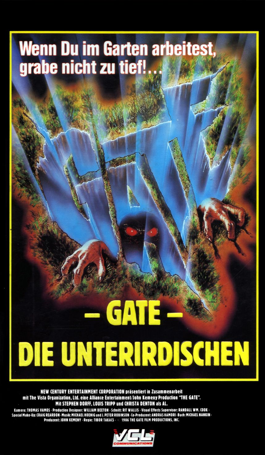 The Gate (1987) German VHS Cover Movie covers