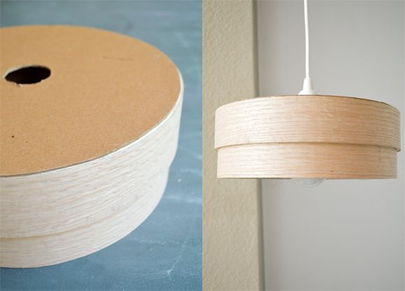 Make This Diy Wood Veneer Light Pendant Diy Light Fixtures Diy