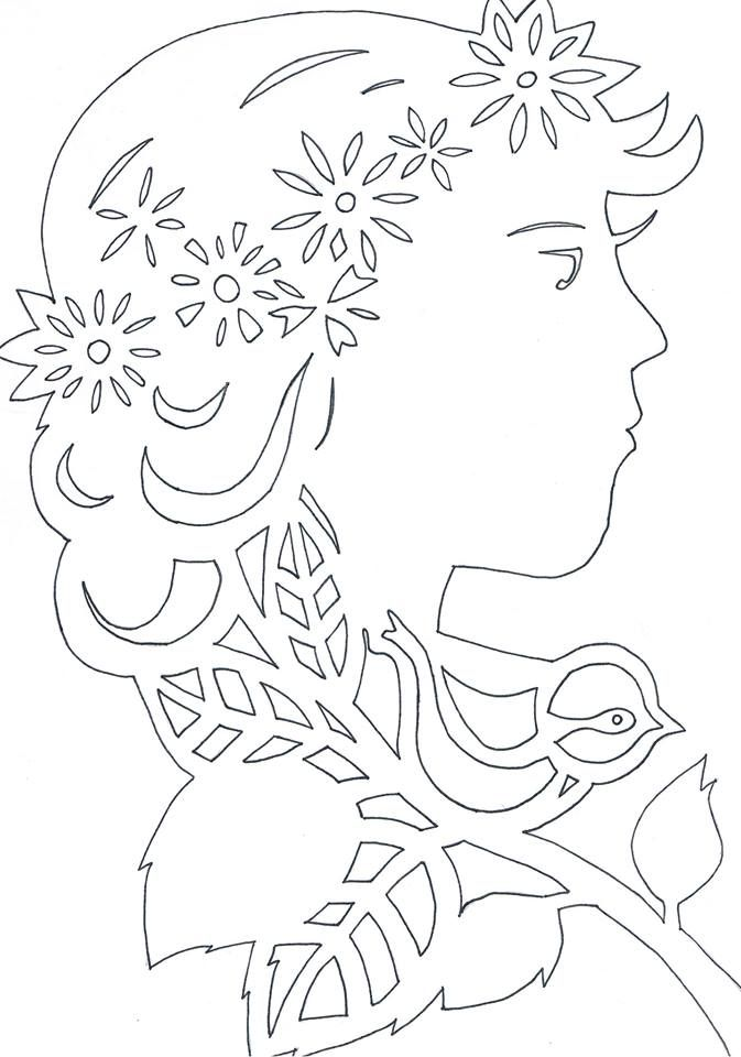 Pani Wiosna Wycinanka Wiosna Wielkanoc Pinterest Paper