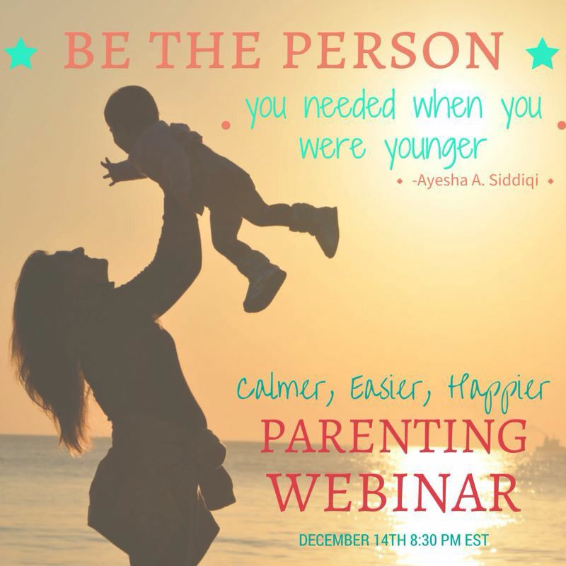 """Be the person you needed when you were younger"" Calmer easier happier parenting http://masterparenting.com/"