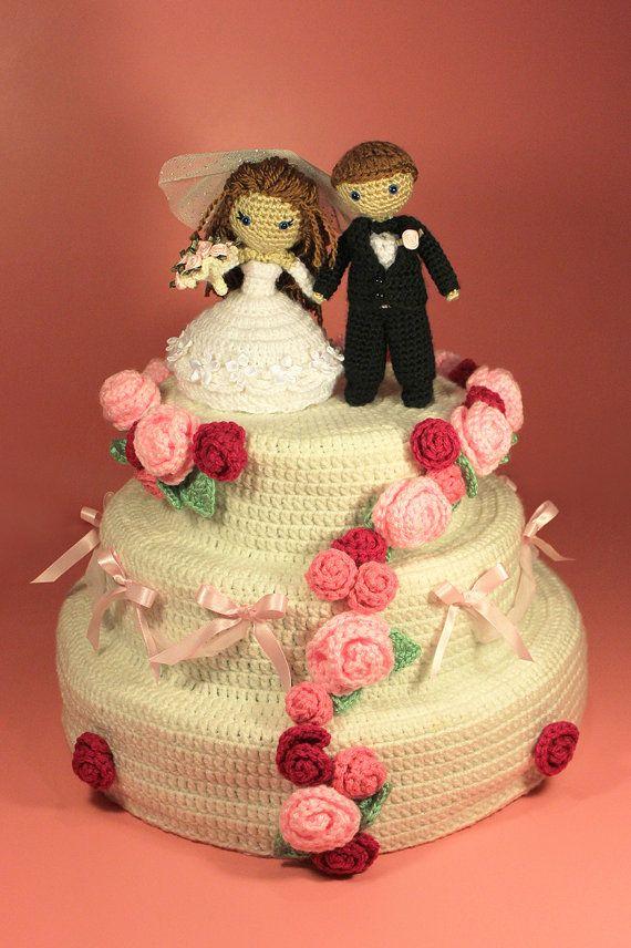 PATTERN Instant Download Dreamy Wedding Cake Crochet CALORIE FREE ...