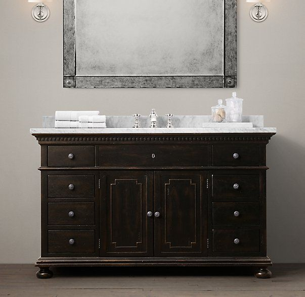 St James Single Extra Wide Vanity Vanity Sink Single