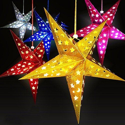 Creative Ideas - DIY Easy Paper Star Decor Paper stars, Paper star - christmas decors