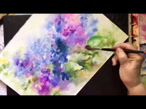 Loose Watercolor Hydrangeas 2 Youtube Aquarell Malen Malen
