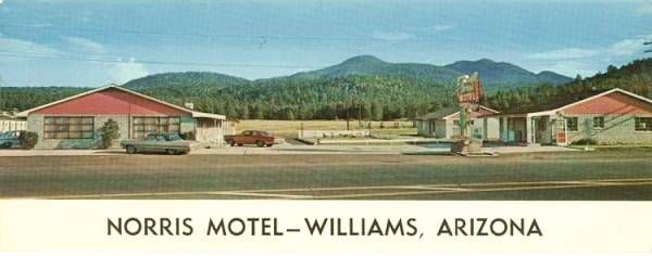 Rooms: Vintage 1960s Postcard Of The Bel Aire Motel In Williams