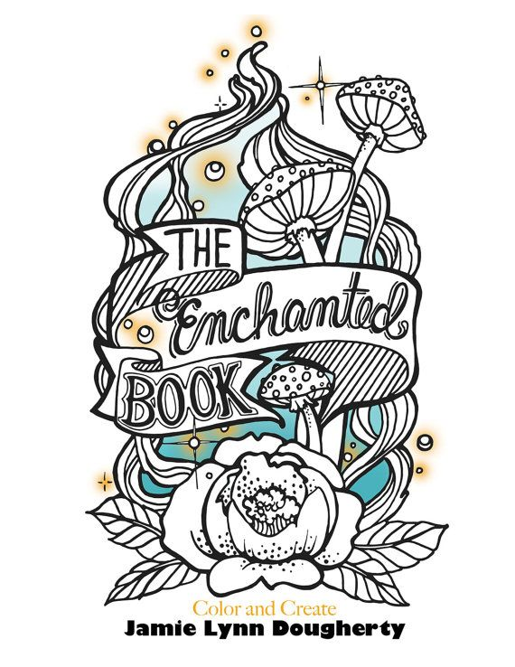 The Enchanted Forest Adult Coloring Book PRE SALE By Jaylynnscraps