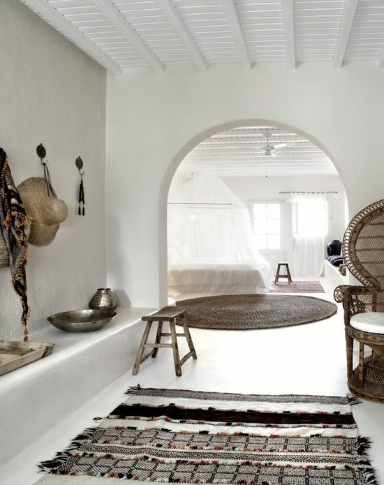 Tribal living room in a home in Tangiers, Morocco.