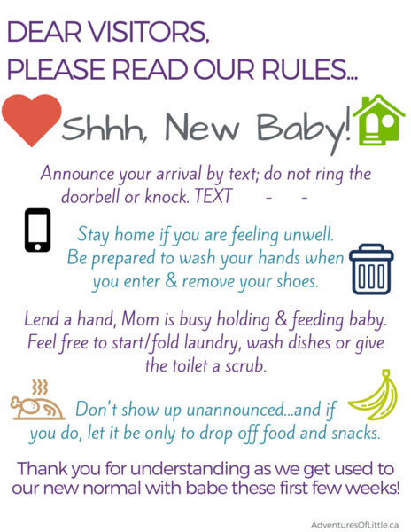 New Baby Visitor Rules DonT Wake The Mom Or Babe Calgary Ab Yyc