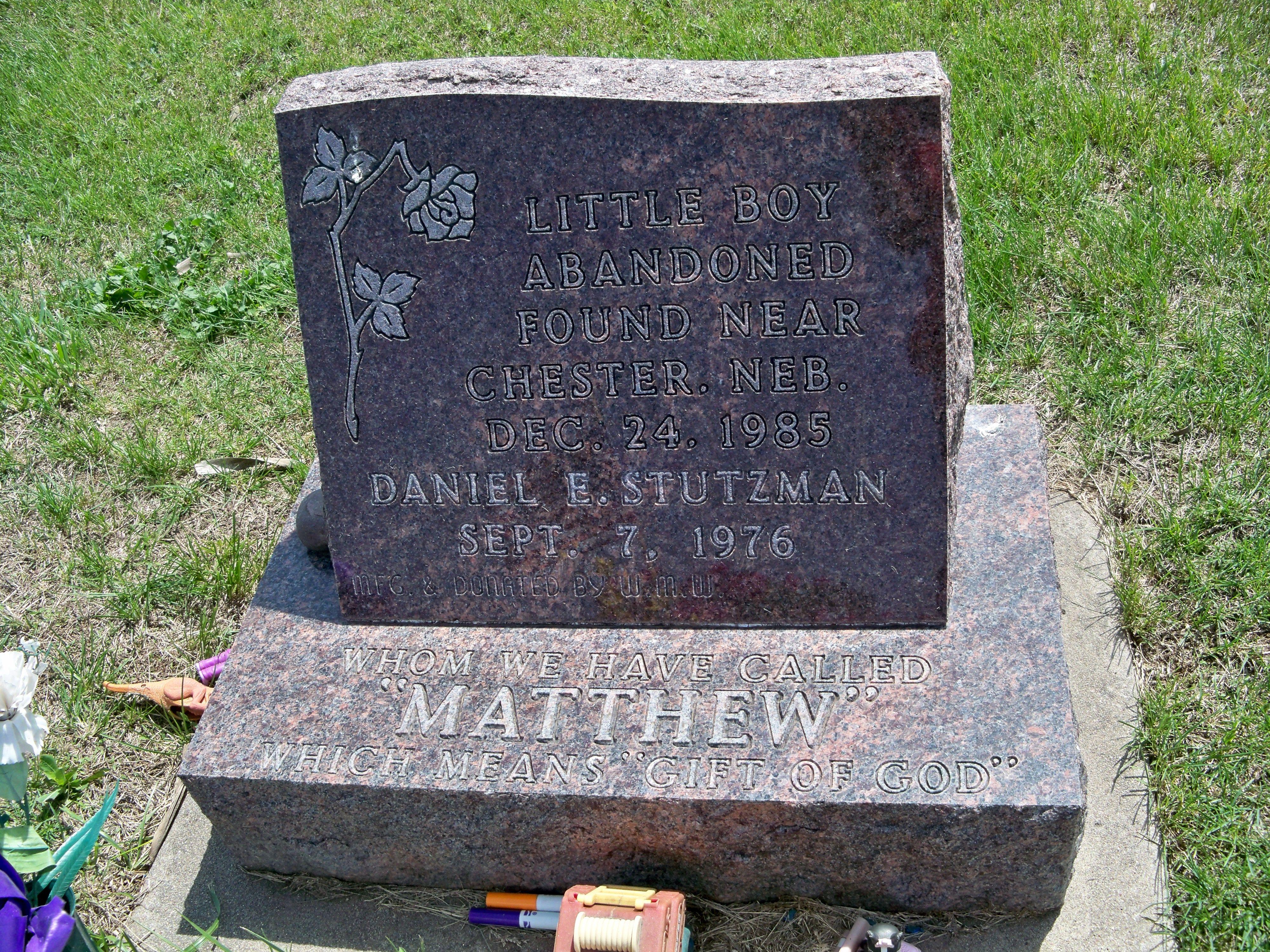 Chester, Nebraska cemetery grave of 'Little Boy Blue