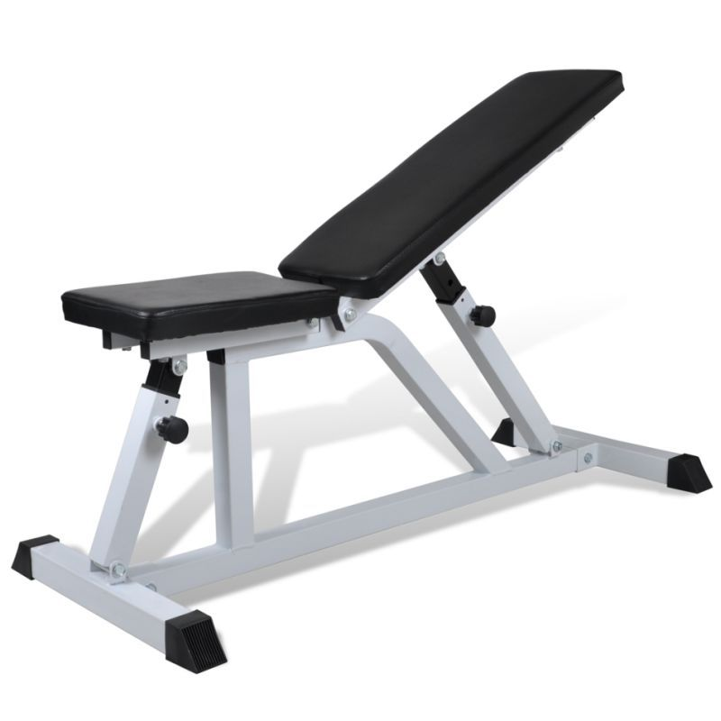 Vidaxl Fitness Workout Bench Weight Adjustable Gym Exercise Sit Up Declline Bench Workout Weight Benches Adjustable Weight Bench