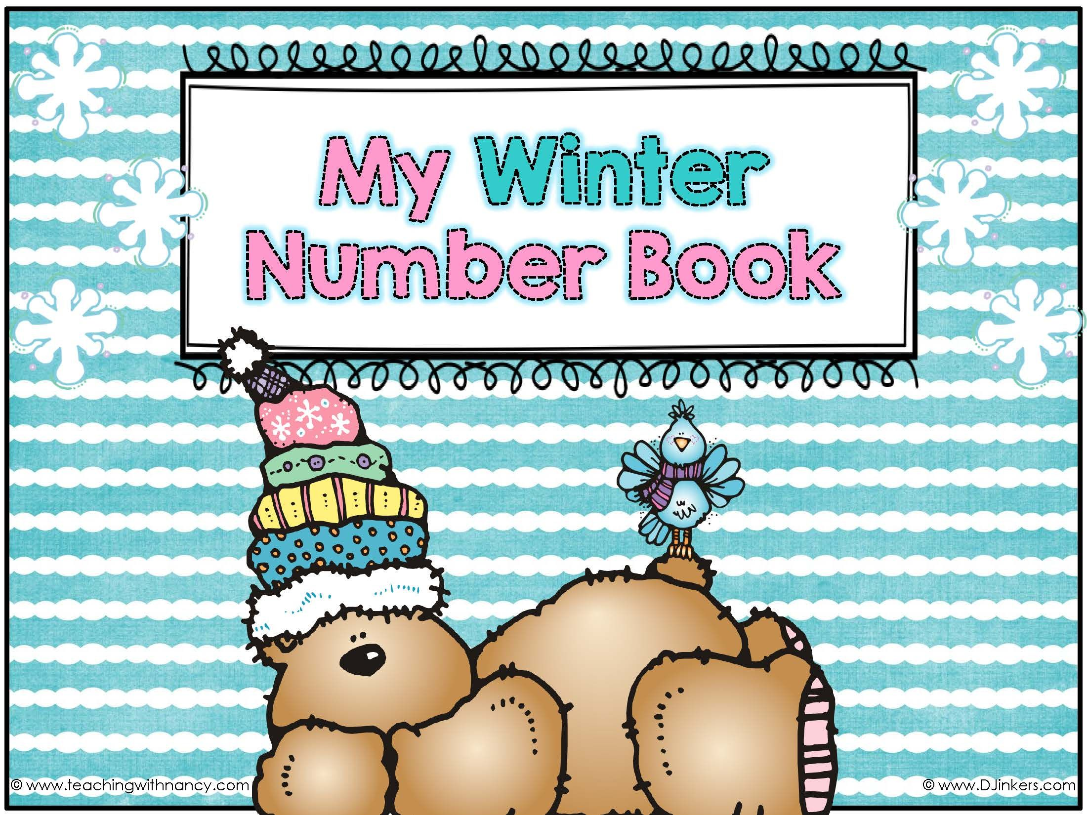 This Free Winter Themed Number Book Will Give Your