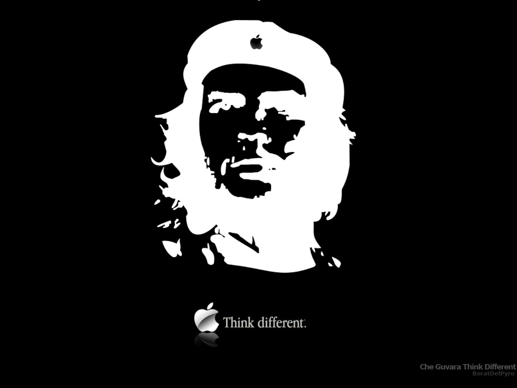 Che Guevara Think Different By Https Boratdelpyro Deviantart Com On Deviantart Che Guevara Friends Wallpaper Different