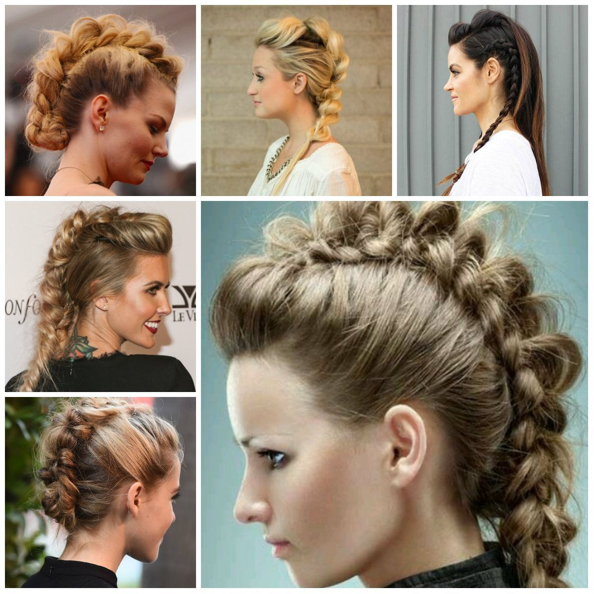 Updo Mohawk Hairstyles Mohawk Braid Hairstyles For 2016 Hairstyles
