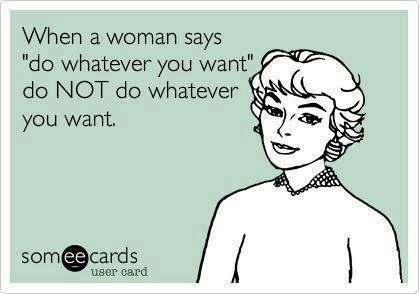 Do NOT do whatever you want