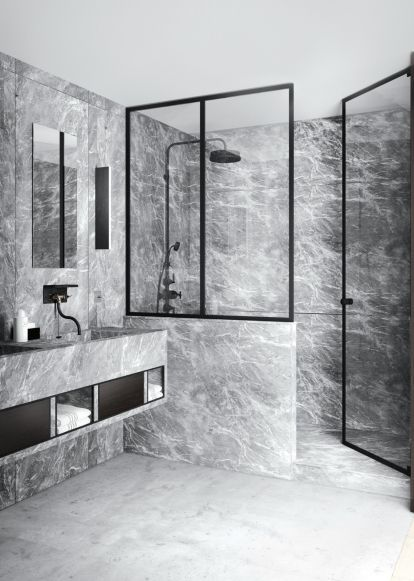 See The Work Of Interior Designer And Blogger Katty Schiebeck: Dark Grey  Marble In The