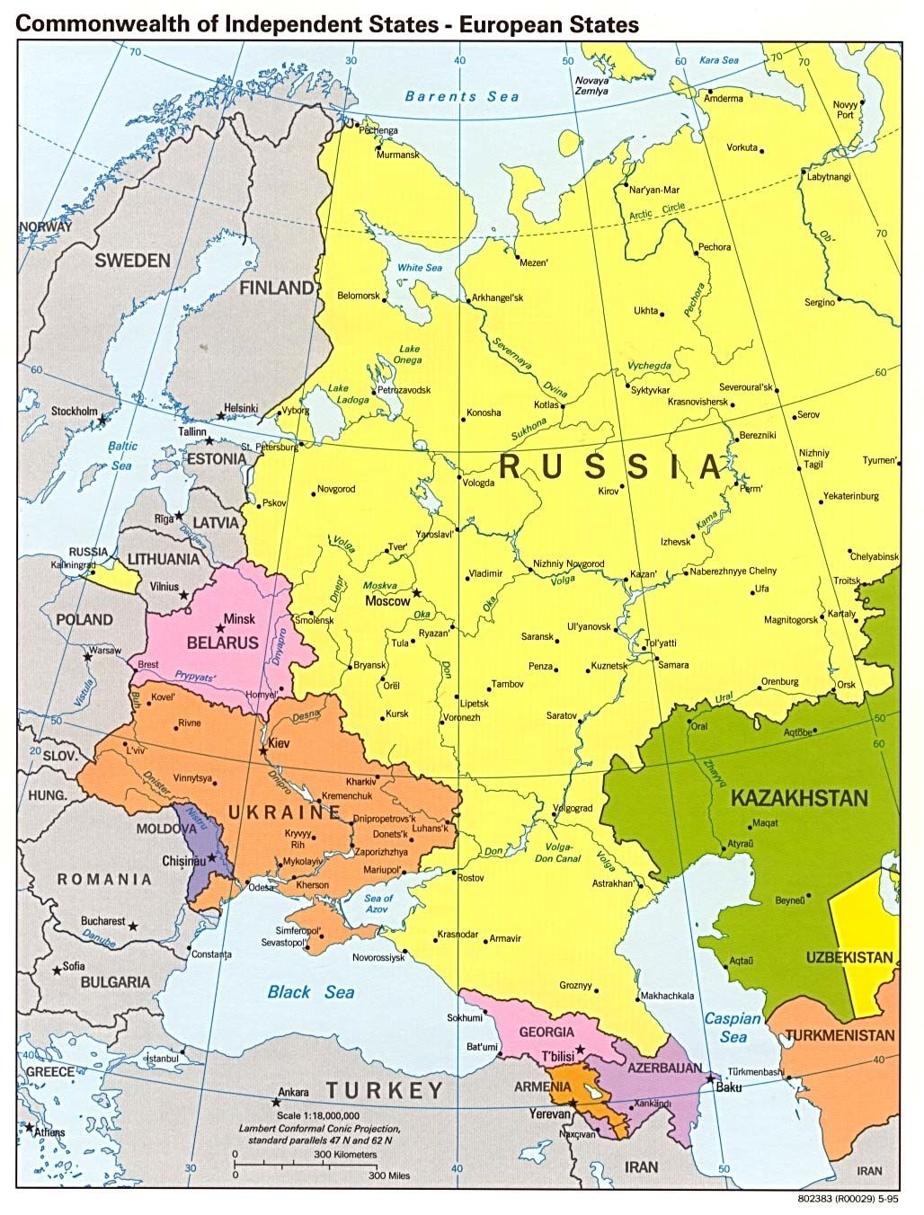 Former USSR West With Map Russia And Europe WORLD MAPS Best Of
