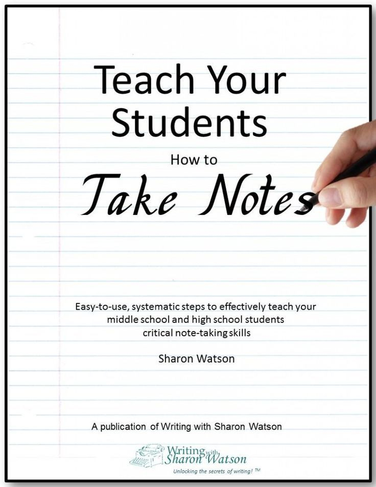 Teach your students how to take notes ebook homeschool easy instructions for weekly lessons to incrementally teach note taking from auditory sources like videos or professors 33 pages grade level 7th 12th fandeluxe Image collections
