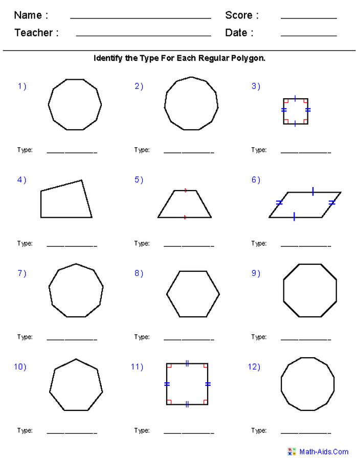 Geometry Worksheets 6th Grade Math Antihrap Com Geometry Worksheets Regular Polygon Shapes Worksheet Kindergarten