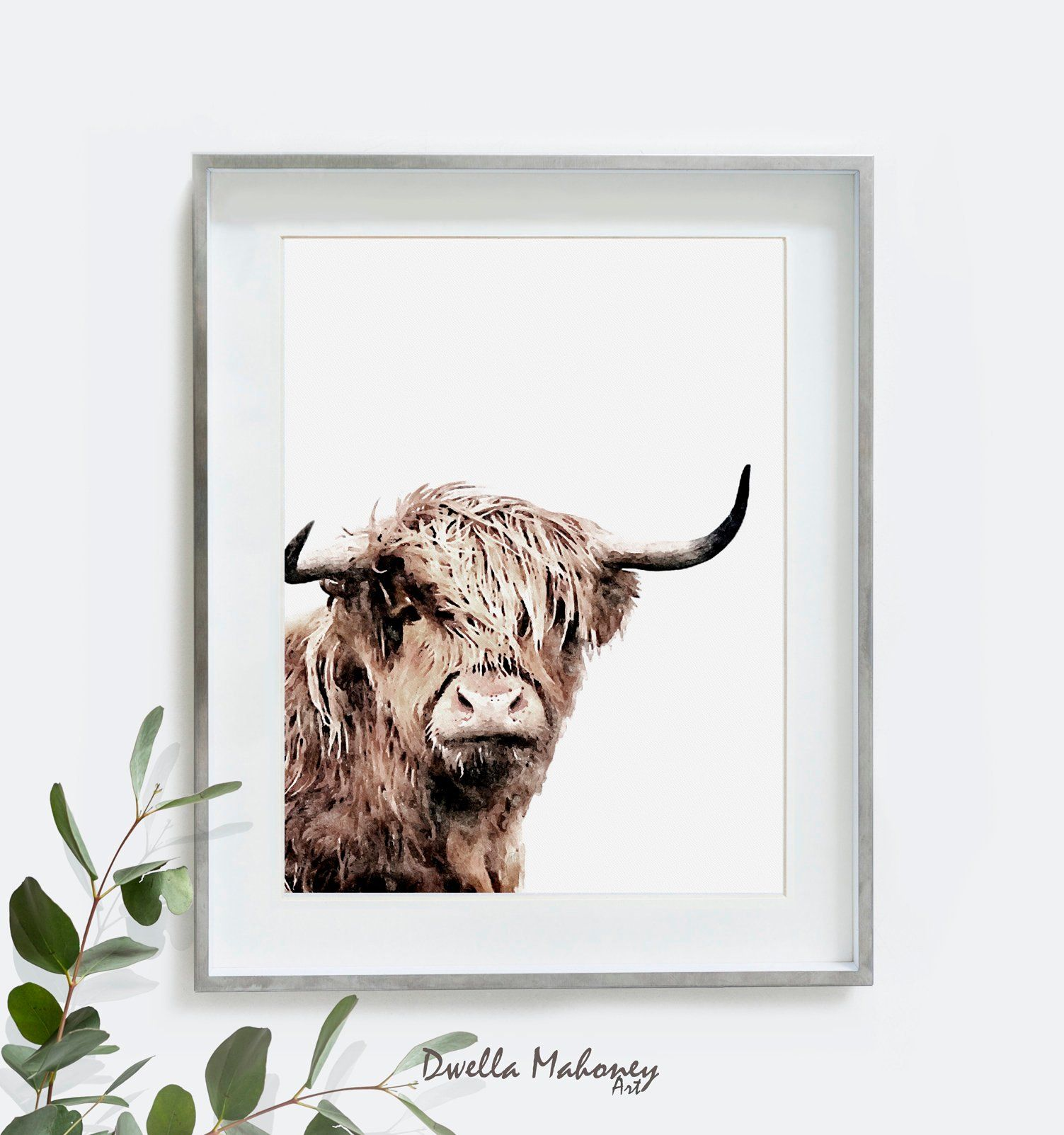 Highland Cow Print, Master Bedroom Wall Decor, Highland