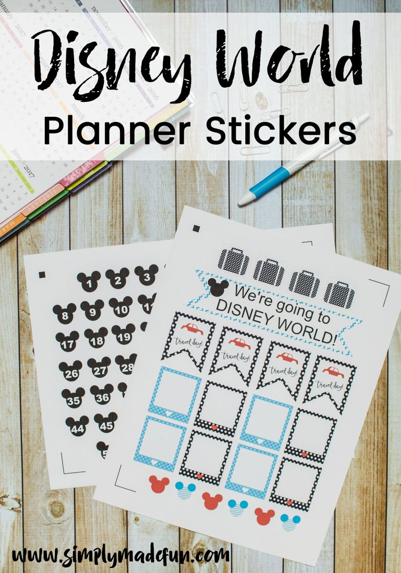 Disney World Planner Stickers | Silhouette machine ...