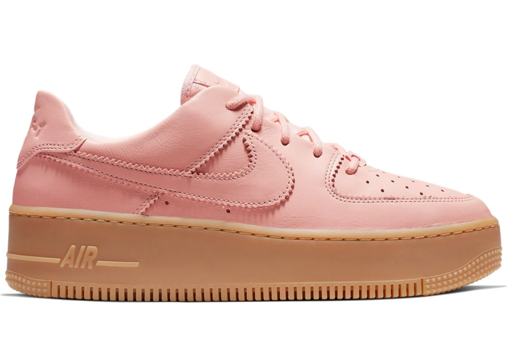 Nike Air Force 1 Sage Low Lx Washed Coral Gum W Nike Air Nike Air Force Nike