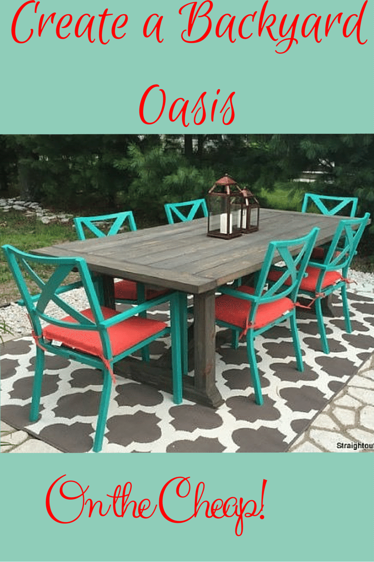 Learn to create a DIY patio table then style it using inexpensive ...